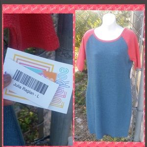 🆕LuLaRoe Julia raglan dress large 👗